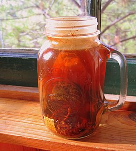 tea in a jar