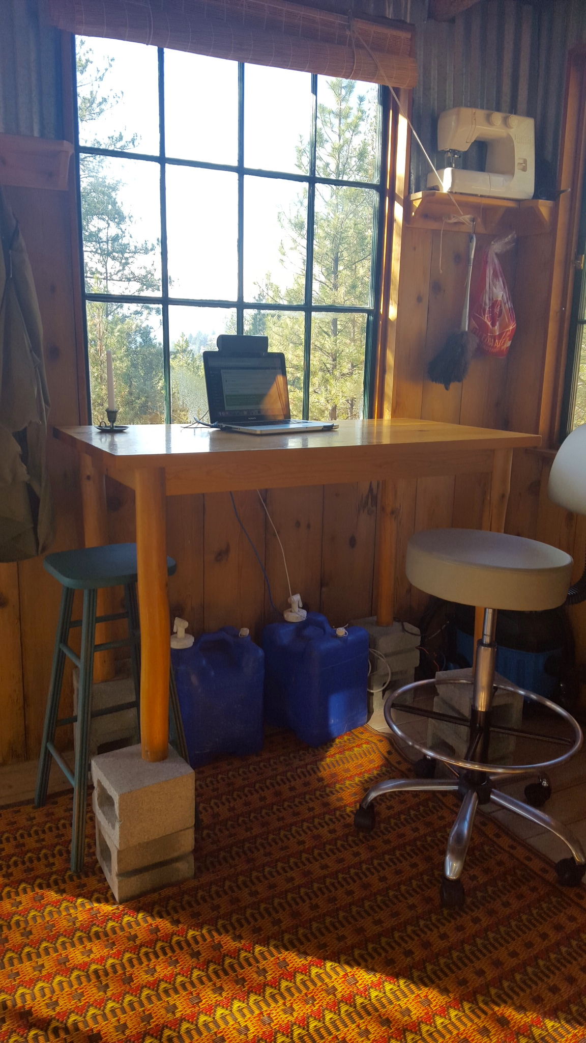 Magnificent How To Turn Your Table Into A Standing Desk As The Crow Flies Home Remodeling Inspirations Gresiscottssportslandcom