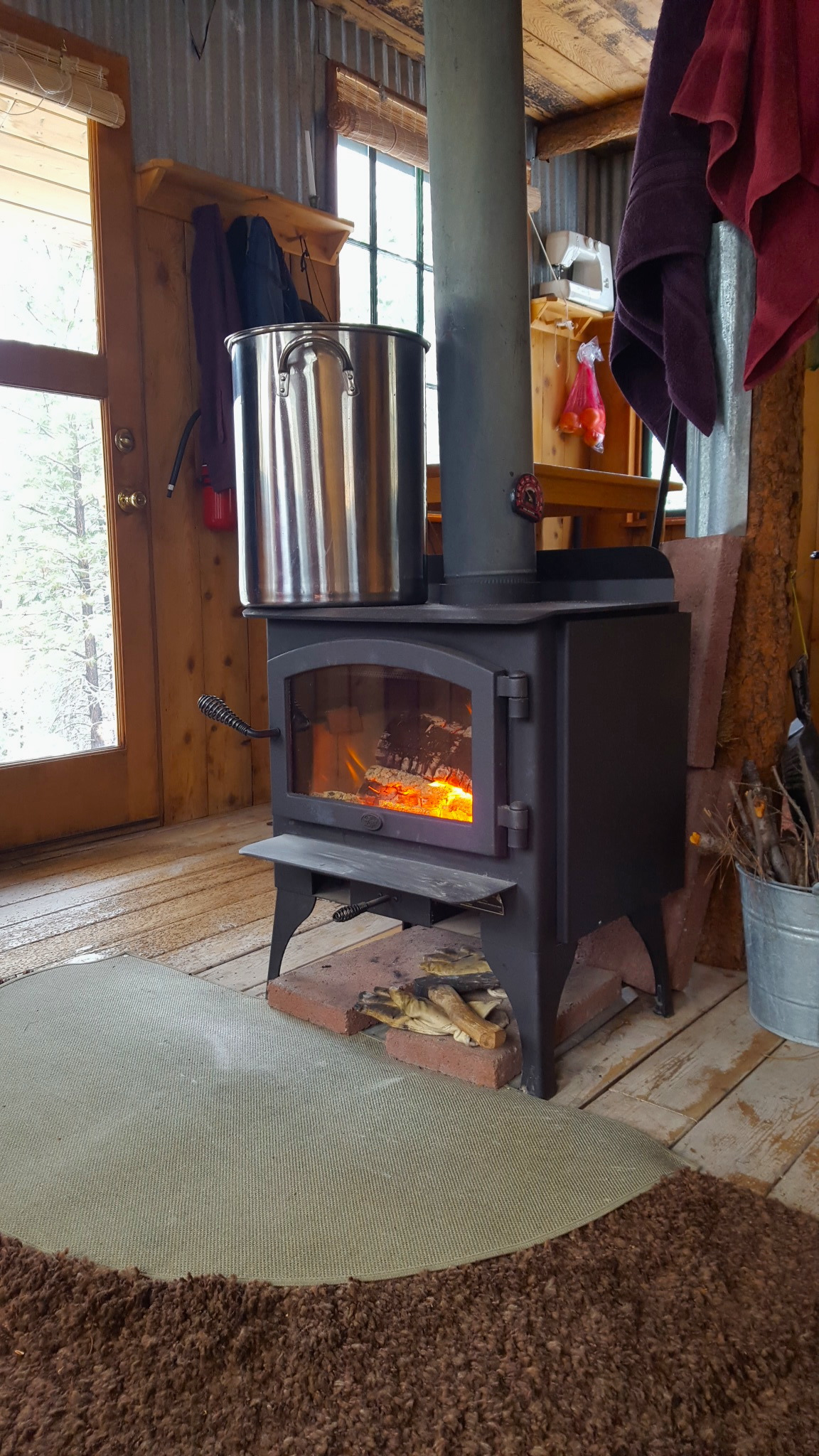 How To Clean The Glass Woodstove Door €  As The Crow Flies - Wood Stove Glass WB Designs